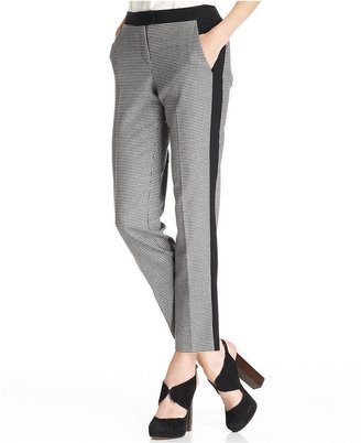 Vince Camuto Pants, Straight-Leg Ankle Tuxedo-Stripe