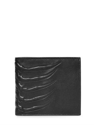 Alexander McQueen Rib Cage Leather Wallet