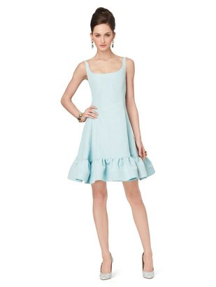 Oscar de la Renta Sleeveless Scoop Neck Dress With Ruffled Hem