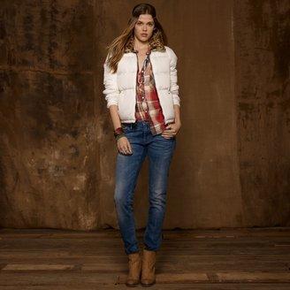 Denim & Supply Ralph Lauren Faux-Fur-Collar Down Jacket