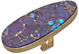 Bombom Jewelry Gold And Copper Turquoise Pop Jewel Of The Nile Purple Slice Ring