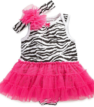 First Impressions Baby Set, Baby Girls Tulle Headband and Tutu Bodysuit