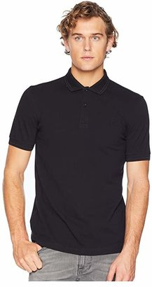Fred Perry Twin Tipped Shirt (Black/Black) Men's Short Sleeve Knit