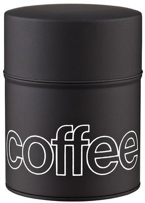 Container Store 13.2 oz. Tin Coffee Canister Red Lacquer