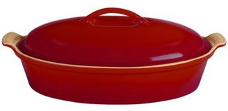 Le Creuset 4-qt. Enamel Stoneware Covered Oval Casserole, Cherry