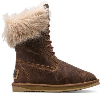 Australia Luxe Collective Montana Boot with Raccoon Fur Trim
