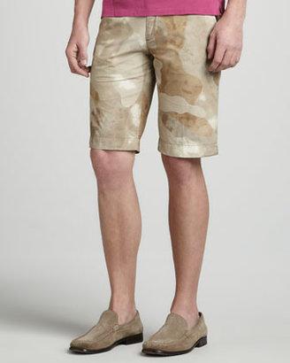 Moncler Camouflage Shorts, Tan
