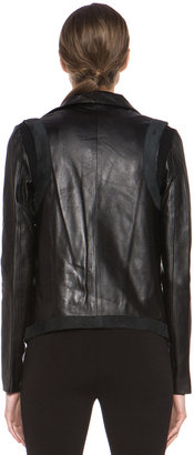Tess Giberson Pieced Leather Jacket in Black
