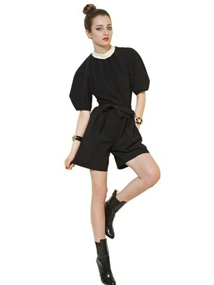 Moschino Techno Crepe Short Jumpsuit