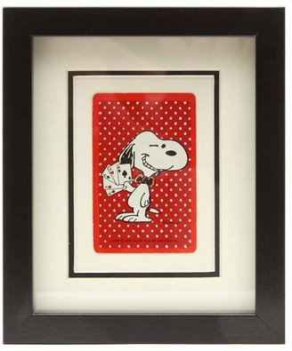 Vintage Playing Cards Snoopy Winking Vintage Framed Playing Card