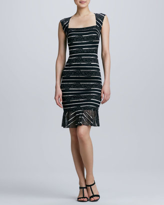 Erin Fetherston ERIN Square-Neck Lace Cocktail Dress
