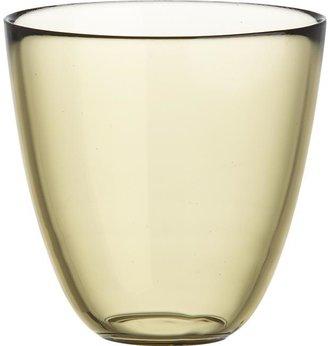 Crate & Barrel Joey Bamboo Beverage Glass