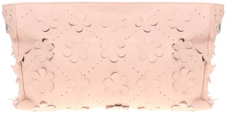 Asos Leather Floral Cut Out Clutch