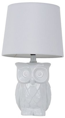 Threshold Owl Figural Table Lamp True White (Includes CFL Bulb)