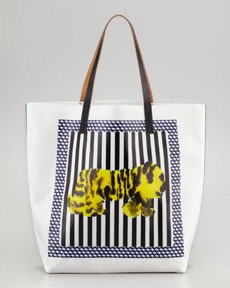 Marni Tiger-Print Tote Bag