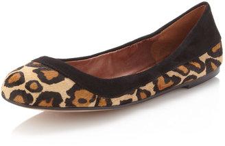 Sam Edelman Bina Ballerina Flat, Leopard-Print