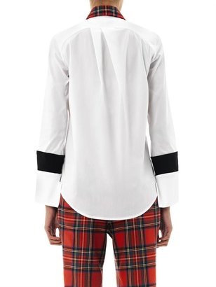 Preen By Thornton Bregazzi Bo tartan collar shirt
