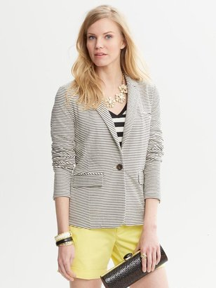 Banana Republic Striped One-Button Blazer