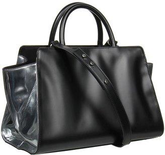 Z Spoke Zac Posen Eartha East/West Satchel (Black/Silver) - Bags and Luggage