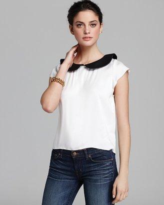Alice + Olivia Tee - Emily Leather Collar