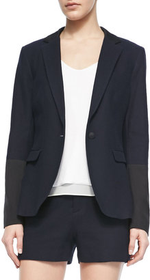 Rag and Bone Rag & Bone Timeless Blazer With Leather Accents