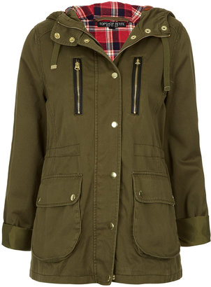 Topshop Petite Talbot Hooded Parka