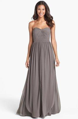 Jenny Yoo 'Aidan' Convertible Strapless Chiffon Gown (Regular & Plus Size)