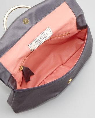 Nina Ricci Satin Bijou Pouchette Clutch Bag, Taupe