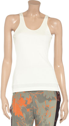 Alexander Wang Racer-back stretch-crepe tank