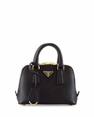 Prada Saffiano Mini Promenade Bag, Black (Nero) $1,130 thestylecure.com