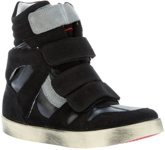 Ishikawa high top velcro fastening trainer