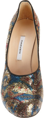 Carven Paillette Pump