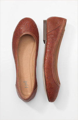 J. Jill Embossed leather flats