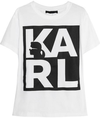 Karl Lagerfeld Amanda printed cotton-jersey T-shirt