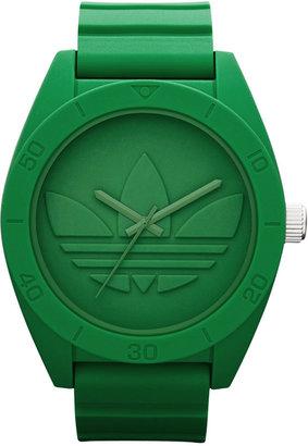 adidas Watch, Unisex Green Silicone Strap 50mm ADH2788