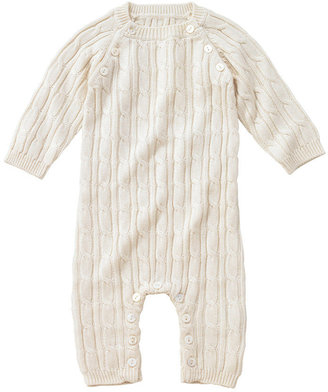 Cable Knit Romper - Ivory