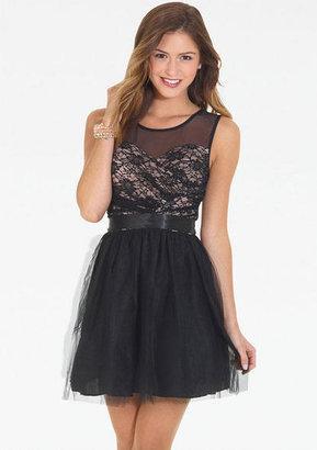 Delia's Contrast Lace Tulle Dress