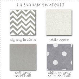 Zig Zag Three Piece Baby Bedding
