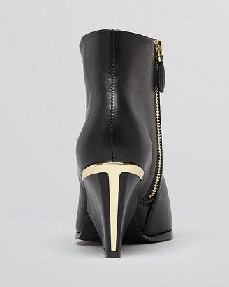 Boutique 9 Pointed Toe Wedge Booties - Isoke Low Heel