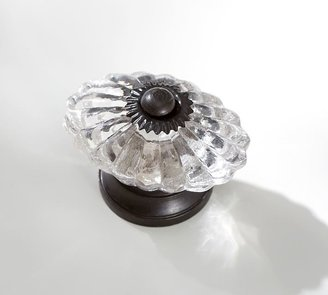 Pottery Barn Vintage Glass Oval Knob