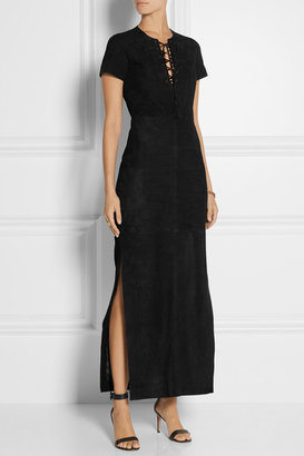 Talitha Mahi suede maxi dress