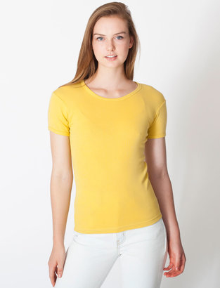 American Apparel Organic Baby Rib Basic Short Sleeve T-Shirt
