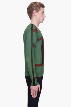 Diesel Black Gold Green patterned Katiana-Magic Sweater