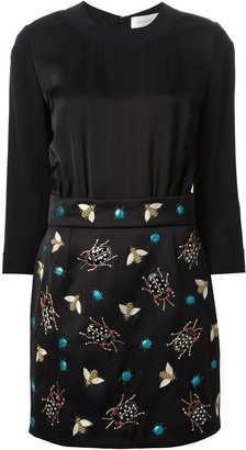 Victoria Beckham Victoria insects embroidered dress