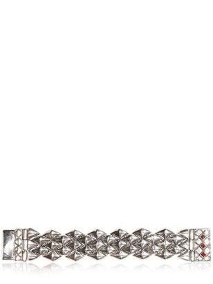 KD2024 Red Garnet Stones Silver Bracelet