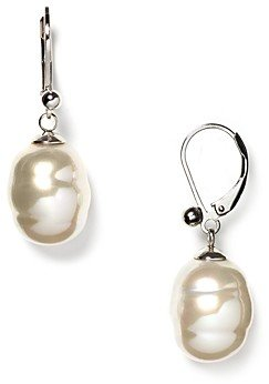Majorica Baroque Simulated Pearl Drop Earrings