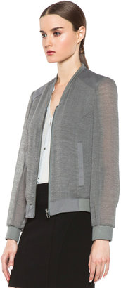 Helmut Lang Breeze Triacetate-Blend Bomber Jacket in Silica