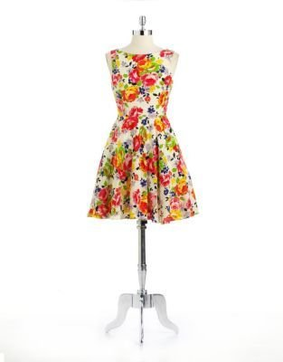 Betsey Johnson Flower Printed Dress