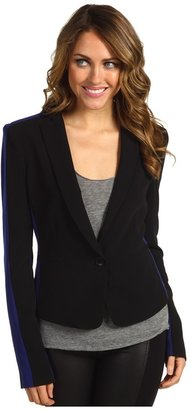 BCBGMAXAZRIA Bowie Woven City Jacket (Black Combo) - Apparel