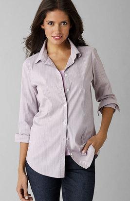 J. Jill Shaped microstriped shirt